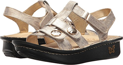 Alegria New Women's Kleo Strap Sandal Gold Your Own Way 38