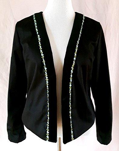 Crop Trimmed (Ribbon And Velvet Trimmed Cropped Jacket)