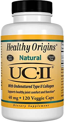 Healthy Origins UC-II (Undenatured Type II Collagen) 40 mg, 120 Veggie Caps