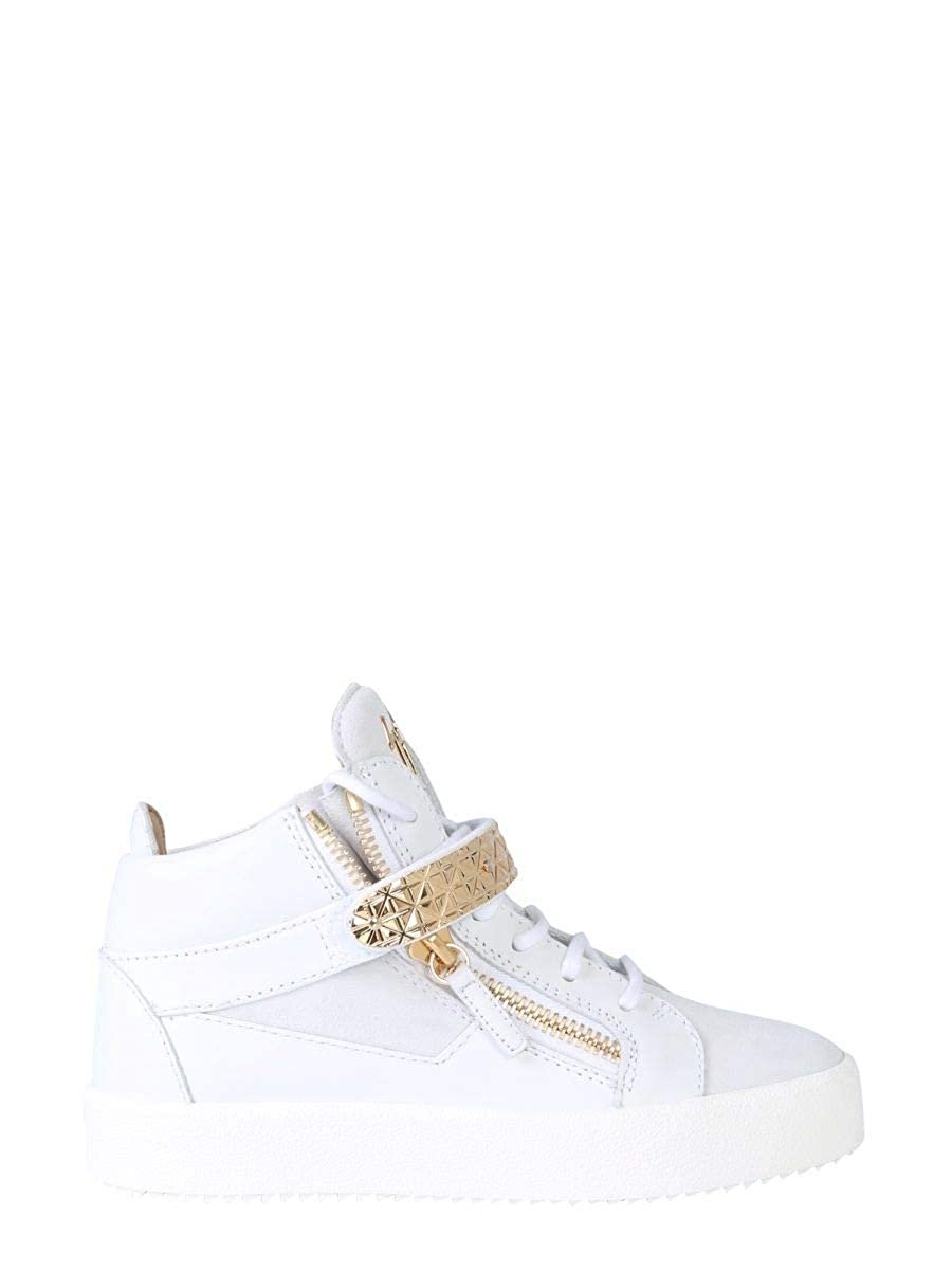 - GIUSEPPE ZANOTTI DESIGN Women's RS90016001 White Leather Hi Top Sneakers