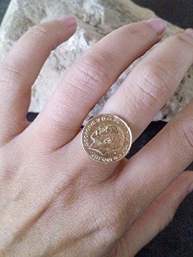 b801fe6c6c437 Gold antique ring, coin ring,coin vintage,gold coin charm,charm band ...