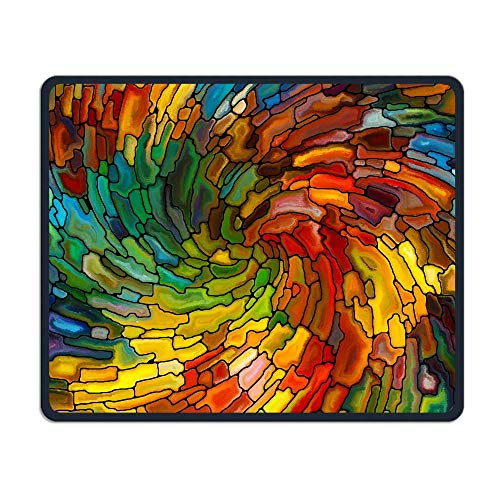 - Mouse Pad Artistic Colorful Vortex Illustration Rectangle Rubber Mousepad Length 8.66 Width 7.09 inch Gaming Mouse Pad with Black Lock Edge