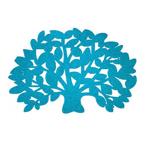 - 5 Pcs Soft Tree Tea Cup Coasters Bowl Mat Pad Mug Holder Placemat Tableware (Lea