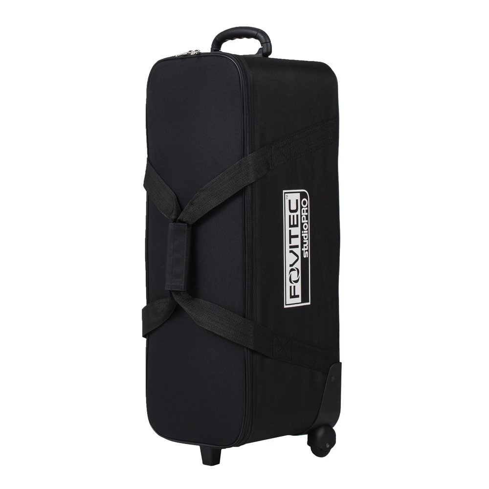 Fovitec - 1x Classic Photography & Video Lighting Equipment Roller Bag - [32'' x 11''x 11''][EZ Glide Wheels][Durable Nylon][Fleece Lining]