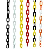 PLASTIC CHAIN IN WHITE & ORANGE, CROWD CONTROL CENTER, 50FT by Crowd Control Center