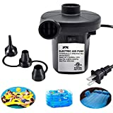 Electric Air Pump for Inflatables, ONG NAMO Quick Air Pump with 3 Nozzles for Air Mattresses Beds Boats Swimming Ring Inflata