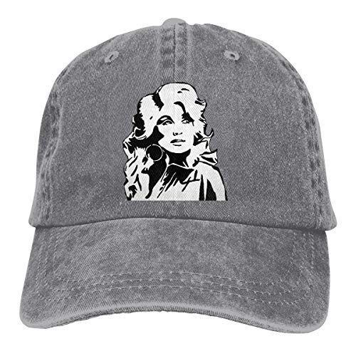 Theshy Unisex Dolly Parton Comfortable, Breathable, Handsome Headgear Gray