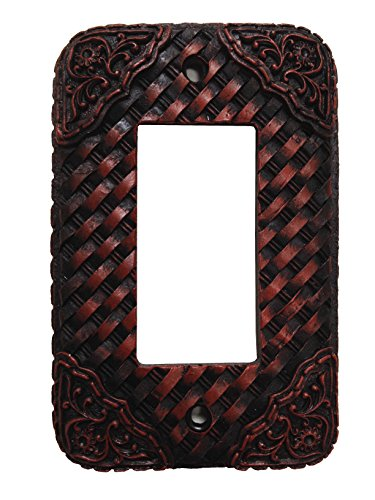 HiEnd Accents Western Tooled Resin Weaver Switchplate with Single Rocker