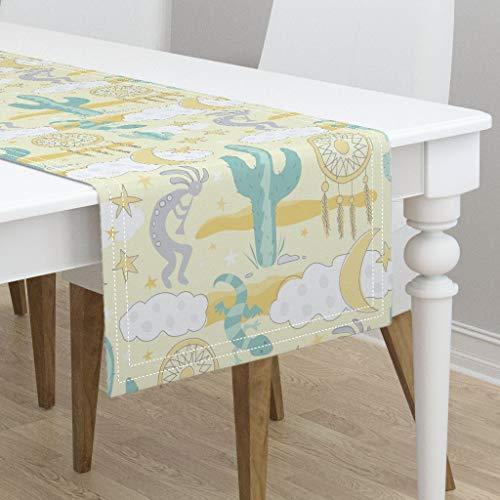Table Runner - Crib Baby Toddler Designs by Lisa K Crib Kokopelli Dream Catcher Cactus Dream by Lisa Kubenez - Cotton Sateen Table Runner 16 x 90