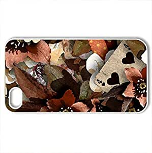 In Autumn Colors - Case Cover for iPhone 4 and 4s (Flowers Series, Watercolor style, White)