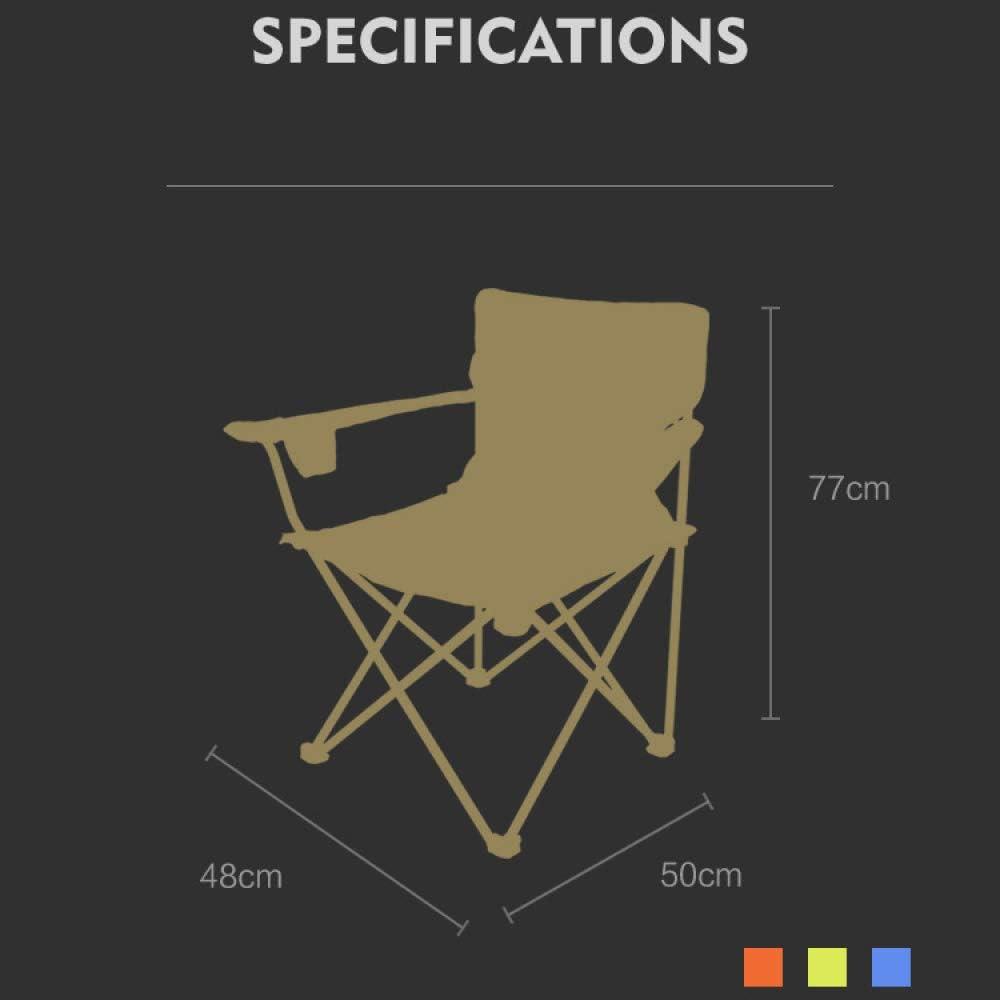 YXLONG Outdoor Folding Chair Ultralight Portable Fishing Chair Sketch Chair Camping Portable Chair Fluorescentgreen