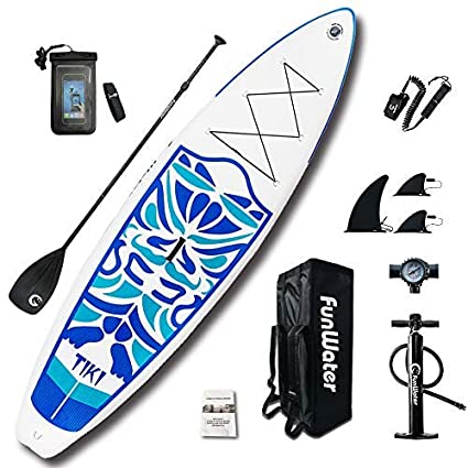 b9014282b6ecd4 FunWater Inflatable 320cm×84cmx15cm Ultra-Light (7.9kg) SUP for All Skill