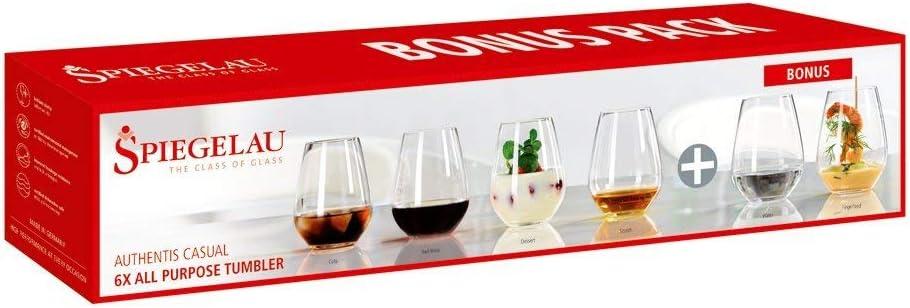 Spiegelau authentis casual universal copa m 4er set copa de vino vino blanco cristal de vidrio