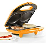 Holstein Housewares HF-09002O Fun Arepa and Empanada Maker - Orange