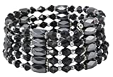 Mandala Crafts Alloy Beads Magnetic Simulated Hematite Beaded Necklace, Wrap Bracelet, Anklet