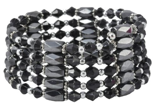 Alloy Beads Magnetic Simulated Hematite Beaded Necklace, Wrap Bracelet, Anklet Wrap Bracelet Anklet