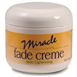 Miracle Fade Skin Lightening Cream. Natural Whitening Ingredients Lighten Dark Spots, Removes Discoloration