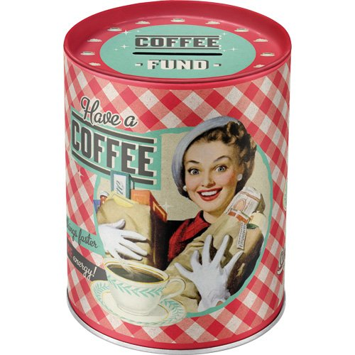 Nostalgic-Art 31007 Say it 50's Have A Coffee, Spardosen