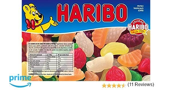 Haribo - Frutas Tropicales Super - Caramelos de goma - 1 kg: Amazon.es: Alimentación y bebidas