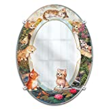 "Jurgen Scholz ""Purr-fect Reflections"" Kitten Mirror Wall Decor For Cat Lovers by The Bradford Exchange"
