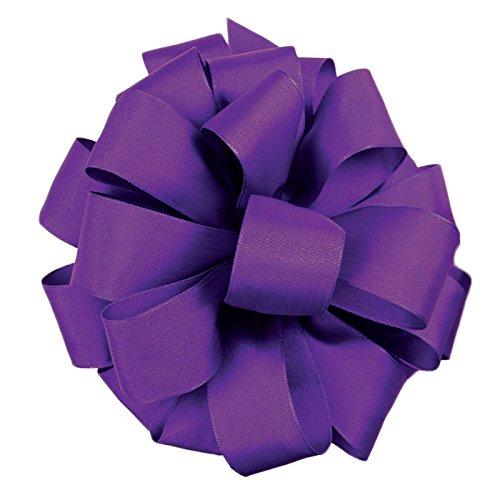 Berwick Offray Revogue Wired Edge Taffeta Ribbon, 2-1/2 x 50 yd, Regal Purple - Edge Taffeta Ribbon