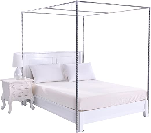 Amazon Com Taiyucover 4 Corner Bed Canopy Frame Post Bracket Twin Twin Xl Full Queen King California King Size Fit For Four Corner Bed Mosquito Netting Curtain Full 22mm Stainless Steel Bed Frame Home Kitchen