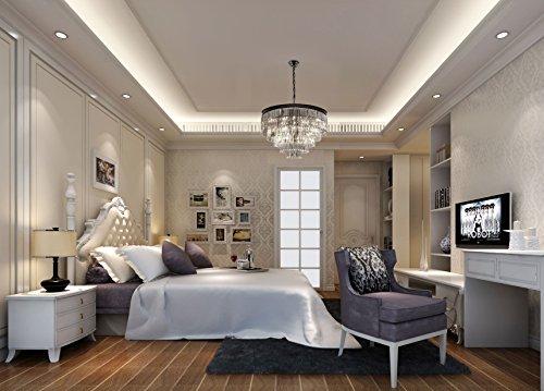 Lumos 12 Lights Luxury Modern Crystal Chandelier Pendant Ceiling Light for Dining Room, Living Room … (12 Lights) by Zgear (Image #6)
