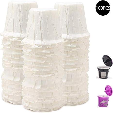 100pcs Jetable Papier Filtres tasses de remplacement K-Cup Filtres pour Keurig K-Cup