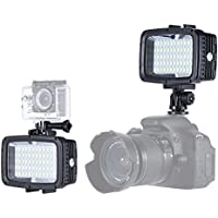 Andoer 40m Underwater led Video Light ,Waterproof Rechargeable 12W 60 LEDs 1800LM Ultra Bright Camera Lamp for GoPro Xiaomi Yi SJCAM Action Cam & for Canon Nikon Sony DSLR