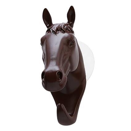 ODN Café cabeza de caballo - Perchero de pared - Colgadero ...