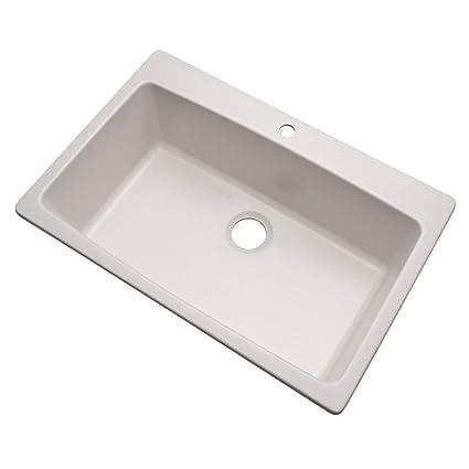 Dekor Sinks 70100Q Northampton Composite Granite Single Bowl Kitchen Sink  with One Hole, 33\