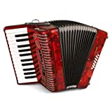 Hohner Accordions 1303-RED 12 Bass 37-Key Entry Level Piano Accordion, Red