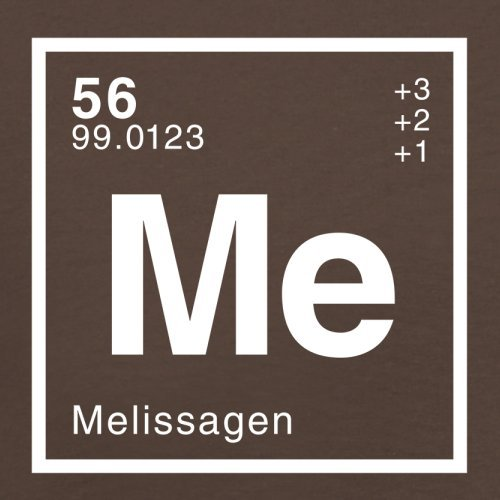 Melissa Periodensystem - Herren T-Shirt - Schokobraun - M