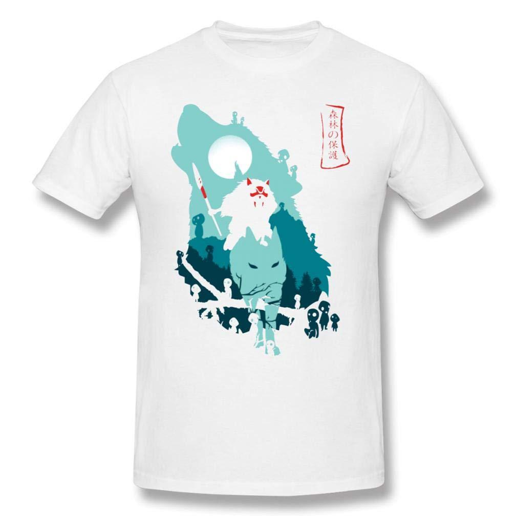 Camicia Della Principessa Mononoke S Printing S Funny Short Sleeves Shirts