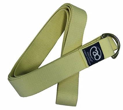 Amazon.com : Yoga-Mad Organic Cotton Yoga Belt Natural by ...