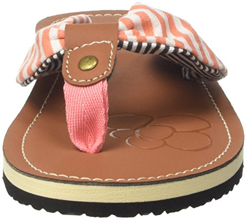 GEKA Lot Lot Weiss Salmon Salmon Mujer Chanclas Caribbean Weiss Multicolor Para 6r06Pqw