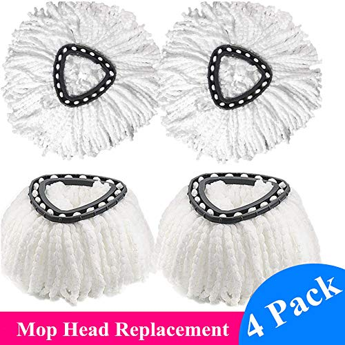 Mop Head Compatible for O Cedar EasyWring Microfiber Spin Mop Head Replacement Refill Easy Cleaning Mop Head 4 Pack