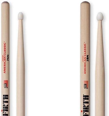 punta de nailon 4 pares de paquete econ/ómico American Hickory 5AN Vic Firth American Classic Series Baquetas de bater/ía