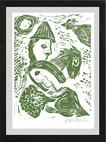 Marc Chagall Original Hand-Signed Limited Edition Linocut Print with COA,