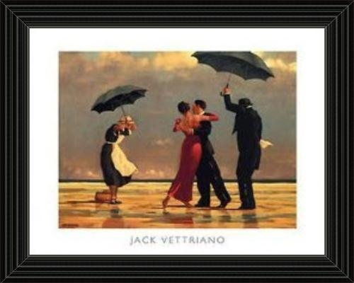 Black Framed the Singing Butler By Jack Vettriano Art Print frame by art4cheap Singing Butler Jack