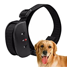 Hualite Dog Anti Bark Collar, No Barking Training Collar for Pet with 7 Levels Adjustable Sensitivity Electric Control, No Harm Warning Voice and Shock for 15-120 lb. Large and Medium Dogs