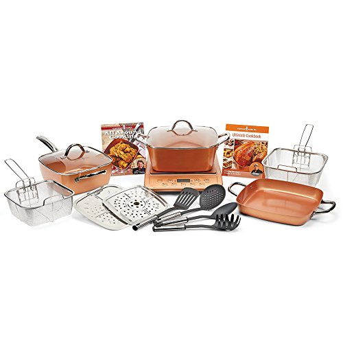 Copper Chef Xl 11 Quot 16pc Casserole Set With Induction