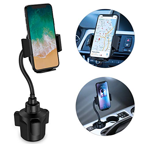 Cup Holder Phone Mount, Beswill Universal Adjustable Gooseneck Cup Phone Holder For Car Mount for Cell Phone iPhone 11 pro/Xs/Xs Max/X/8/7 Plus/Sumsung Galaxy S10/9/8 Note
