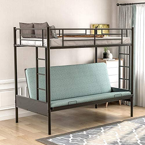 Twin Over Futon Bunk Beds Easy Conversion to Twin Over Full Bunk Bed