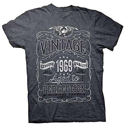 - 512HzU5gqdL - 50th Birthday Gift Shirt – Vintage Aged to Perfection 1969 – Distressed