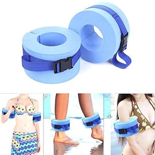 GzxLaY Foam Swim Aquatic Cuffs, Aqua Resistance Exercise Cuffs Water Aerobics Float Ring Fitness Exercise Set, Ankles…