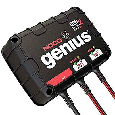 NOCO Genius GENM2 8 Amp 2-Bank On-Board Battery Charger: Automotive