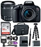 Canon EOS Rebel T7i Digital SLR w/18-55mm IS STM Lens +32GB Memory Card + Canon DSLR Camera Bag + Digital Slave Flash + 3pc Filter Kit + Wide Angle & Telephoto Lenses + Spider Tripod