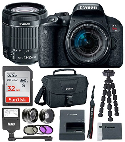 Canon EOS Rebel T7i DSLR Camera w/18-55mm lens & 32GB Premium Accessory Bundle by Canon