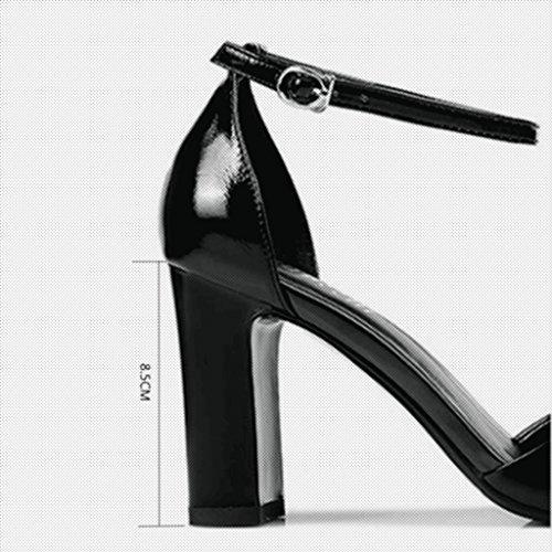 Noir Femmes Baotou 5 Taille à UK3 Talons Talons Sandales Couleur Femmes CN35 Escarpin Hauts Rose MUMA Noir EU36 Creux Noir à Chaussures Hauts TYO5RqwFx